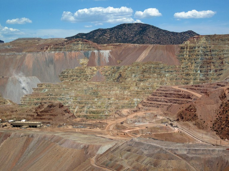 The pit of the Morenci open-pit copper 		mine in southeastern 			Arizona, one of the largest in the world