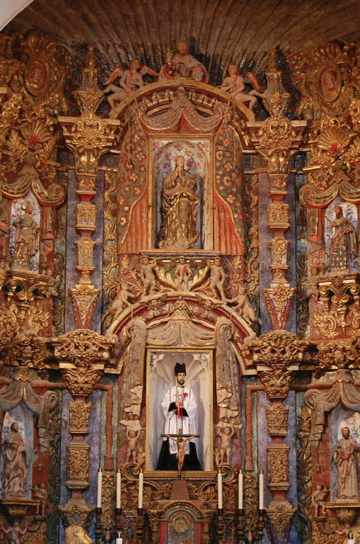 Details from the interior of San Xavier.