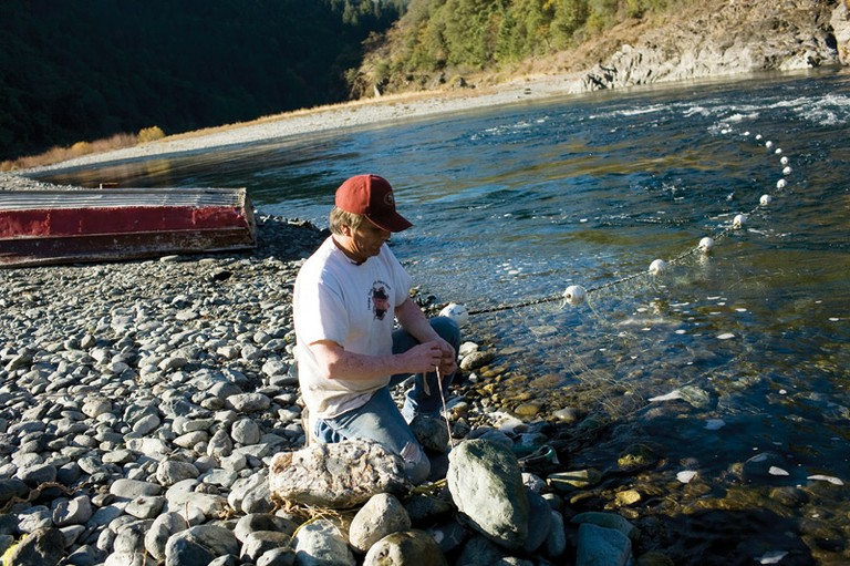 "Leonard ""Spam"" Ferris and his family have been using gill nets to fish for salmon on the Trinity River for generations. But the fish numbers have dropped, and the fish come later than they did when he fished with his grandfather."