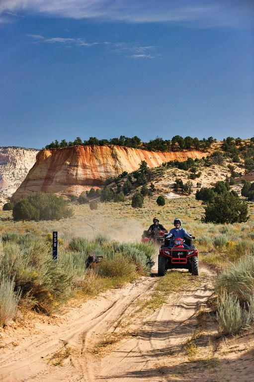 Ray Wells and Bryce Nuckols ride in Utah's Grand Staircase-Escalante National Monument.