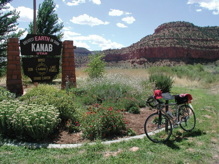 Kanab's softer side shows through at the entrance to town.