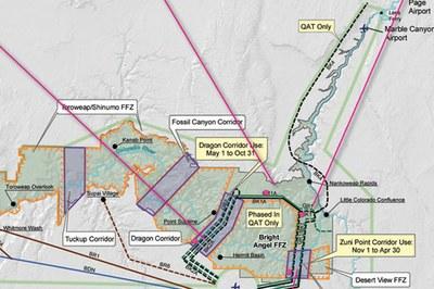 The National Park Service's Preferred Alternative map.