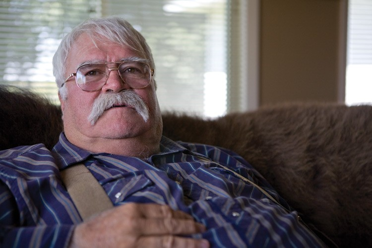 Louis Meeks, at home in Pavillion, Wyoming, where he's spent the last six years and most of his retirement savings trying to find out why his water well went bad.