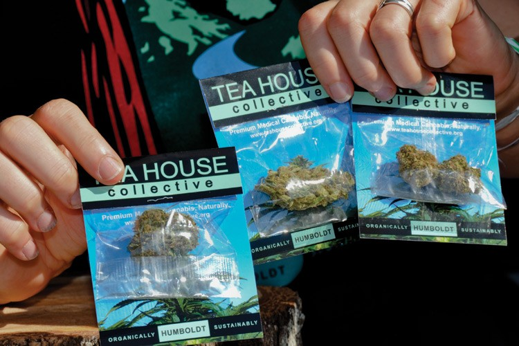"Offerings from the Tea House Collective. ""Organically, Sustainably Humboldt"" is the slogan the group uses on its packages."