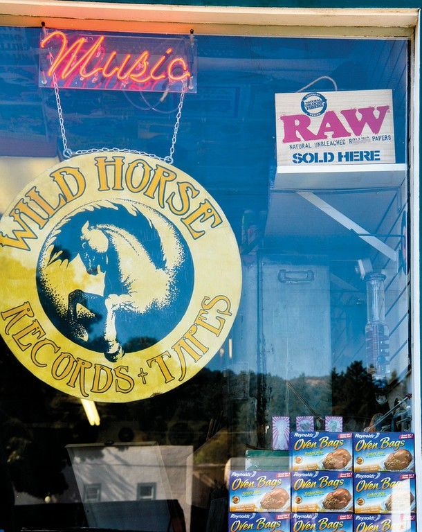 Garberville music store Wild Horse Records and Tapes sells music ... and  rolling papers and turkey-roasting bags, used to transport and store bulk marijuana.