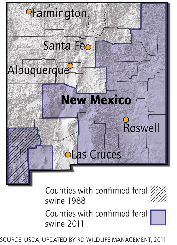 New Mexico Feral Swine Distribution