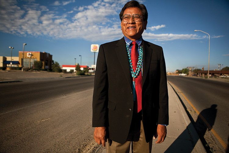 Council Delegate Russell Begaye, in Shiprock, which was a vibrant commercial center when he was growing up there. Now, he says, people have to leave the reservation to shop.