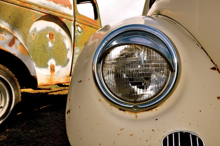 Details from the yard of rat-rod builder Luis Virgilio.