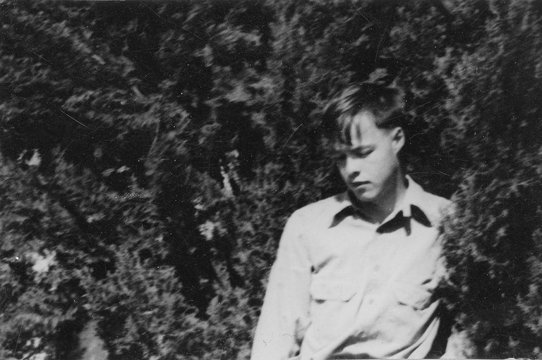 A thoughtful Everett as a young teenager.