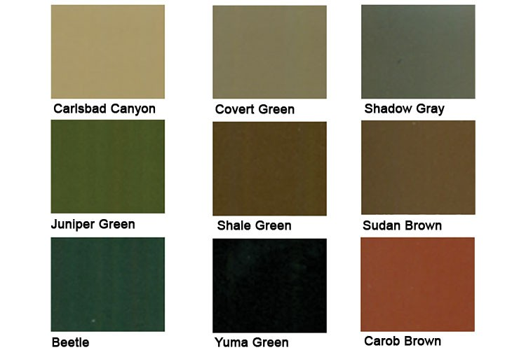 "The BLM uses nine ""standard environmental colors"" to conceal energy structures. A mix of these were used in camouflage patterns the agency hopes to eventually use to hide renewable energy facilities."