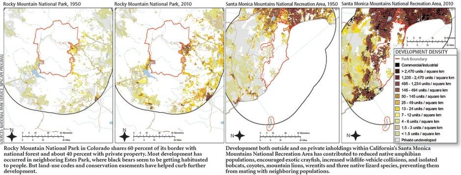 Development near national parks impacts park ecology