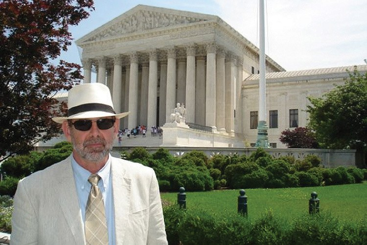 Laird Lucas in front of the U.S. Supreme Court in 2009.
