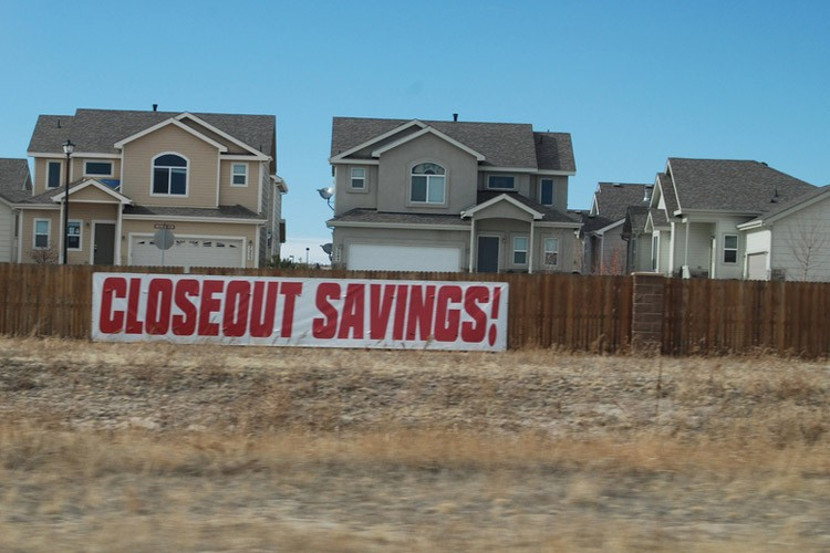 Closeout housing development in Colorado