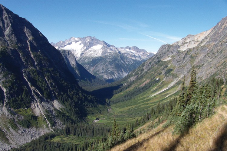 Fisher Creek Basin in North Cascades National Park, where the last known grizzly bear killed in the Cascades was shot in 1967.