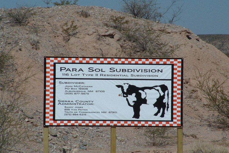 ParaSol Dairy's plans appear to have been abandoned — the proposed site now displays a sign for a residential subdivision.