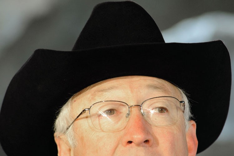 U.S. Secretary of the Interior Ken Salazar wore one of his trademark hats Jan. 20, 2011, while speaking to reporters at the Smithsonian Institution's National Zoo in Washington, D.C.
