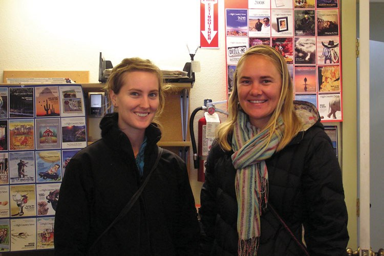 Anna O'Neill (left) and Richelle Caya (right) happened upon High Country News by chance on a job-hunting quest through Colorado.