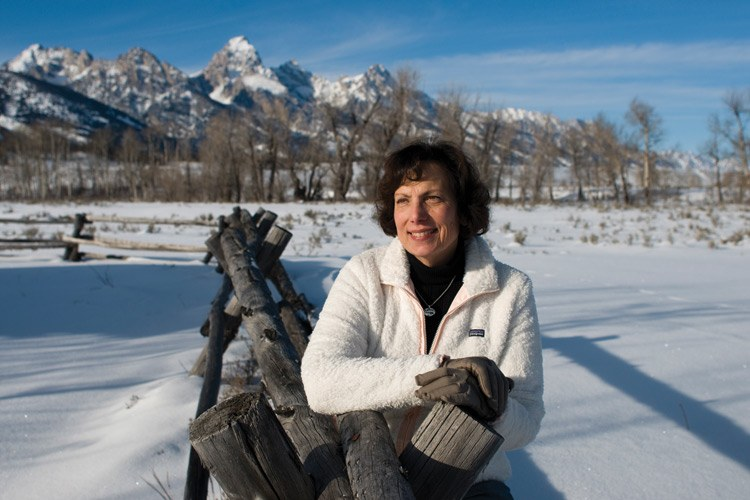 Joan Anzelmo near the Grand Tetons, where she's retired after a 35-year career with the Park Service, including a recent stint as superintendent for Colorado National Monument.