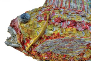 Oregon sculptor turns beach trash into meaningful art