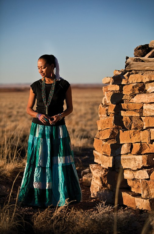 Radmilla Cody at home on the Navajo Reservation.