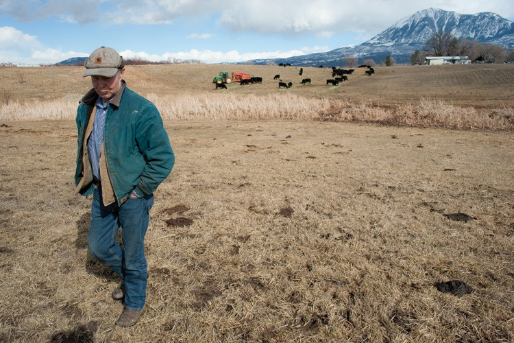Norman Smith is the last of the old-time ranchers on his part of this mesa in western Colorado. All the surrounding ranches have been split up and sold at prices too high for a working rancher to afford.