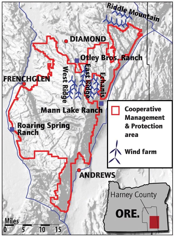 Steens Mountain wind farms