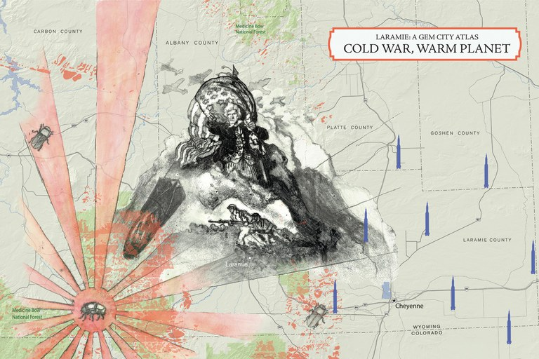 Cold War, Warm Planet: To accompany an essay by Kathryn Flagg. Illustration by Kelsey Giroux, graphic production by Shizue Seigel, cartography by Ben Pease.