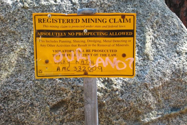 Mining claims are quick to stake and cheap, at just $100.