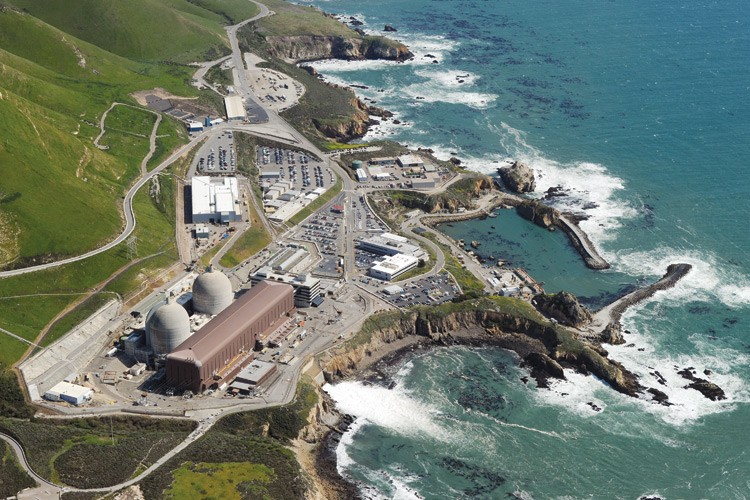 The Diablo Canyon nuclear power plant sits a few hundred yards from a newly discovered faultline near San Luis Obispo, California.