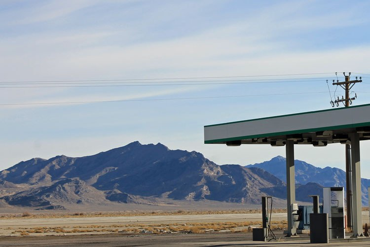 Industrial West salt flats gas station