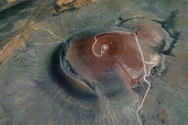 The Roden Crater by James Turrell (under construction since 1979 in the Arizona desert).
