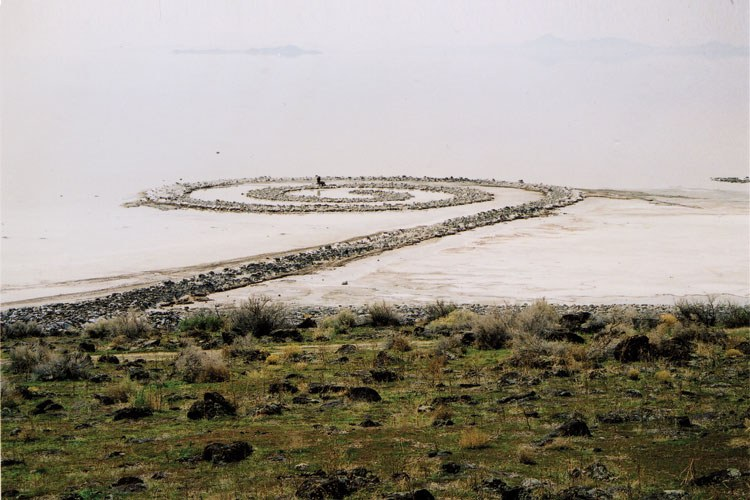 Spiral Jetty: Sometimes you see it, sometimes you don't.