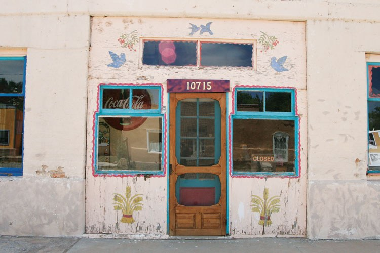 A storefront in Hillsboro, N.M., a former gold and silver mining settlement.