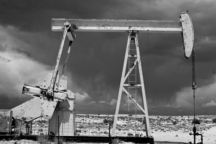 A pumpjack in the Aneth Oil Field on the Navajo Nation in Utah. The oil field has been producing, and creating tension, for more than 50 years.