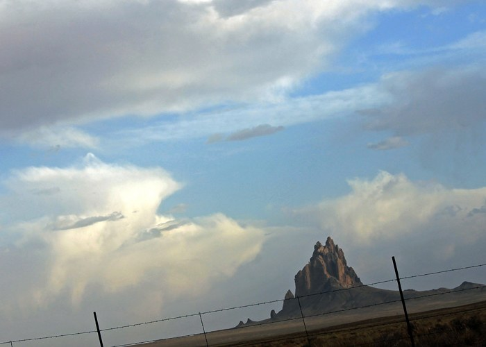 Shiprock, a massive volcanic formation in northern New Mexico.