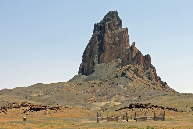 Agathla Peak near the south end of Comb Ridge in Arizona.