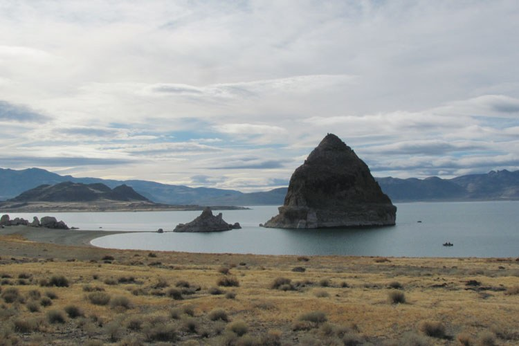 Pyramid Lake just north of Reno.