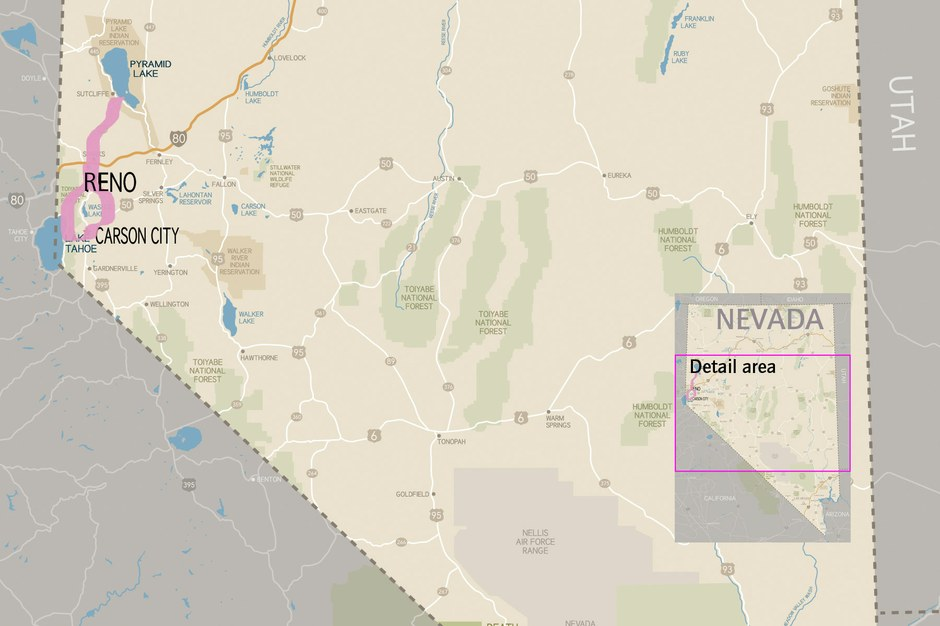 Ray Ring's Nevada route