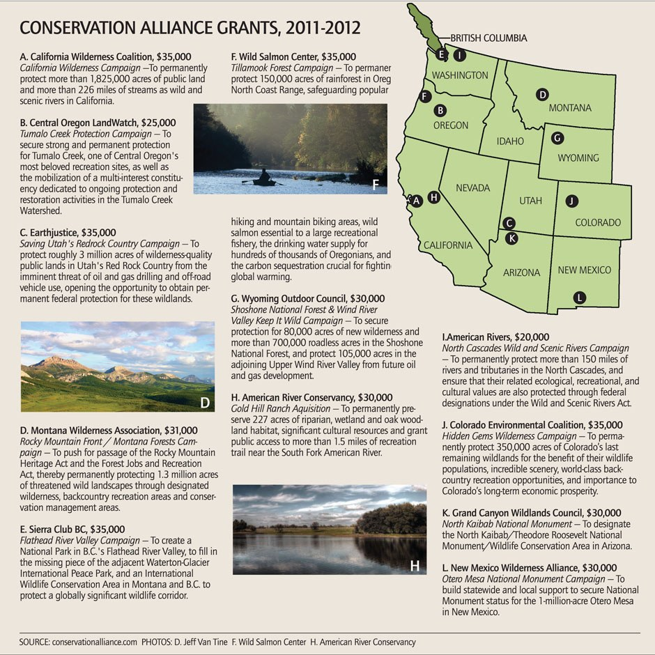 Conservation Alliance Grants, 2011-2012