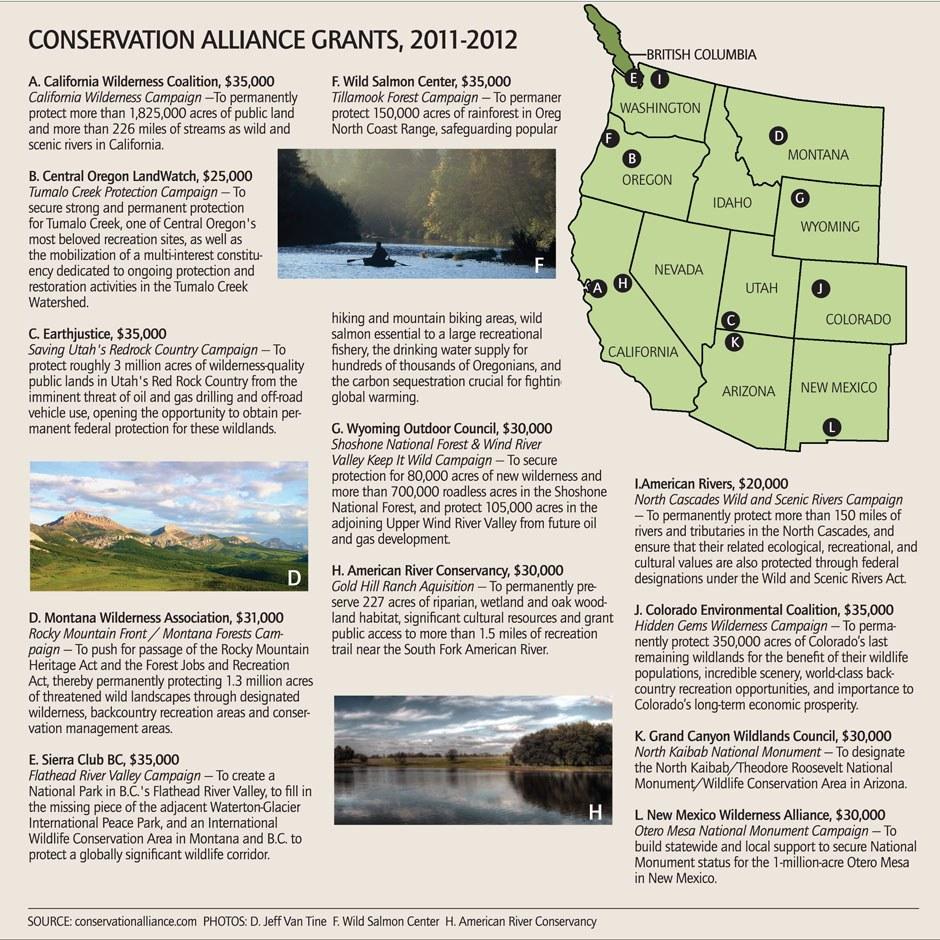 Conservation Alliance Grants, 2011-2012