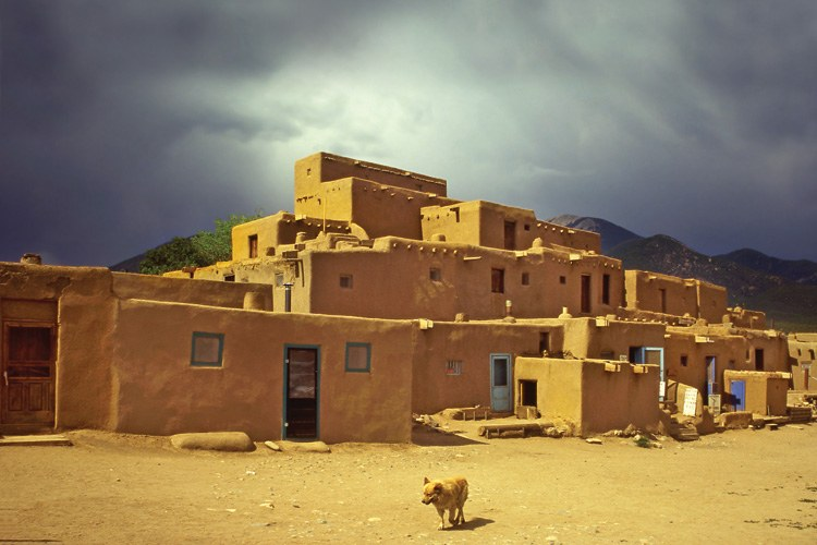 On the northern edge of town, the adobe Taos Pueblo is still occupied by the tribe that constructed it more than 700 years ago. In 1971, the tribe regained ownership of a 48,000-acre spiritual site in the mountains, which the U.S. Forest Service had taken over, but the tri