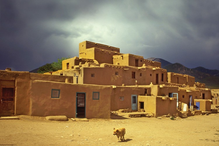On the northern edge of town, the adobe Taos Pueblo is still occupied by the tribe that constructed it more than 700 years ago. In 1971, the tribe regained ownership of a 48,000-acre spiritual site in the mountains, which the U.S. Forest Service had taken over, but the tribe doesn't get involved in Hispanos' efforts to regain their traditional lands.