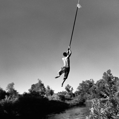 Rope Swing, 6 p.m., 100° F, San Joaquin River, California, 2010