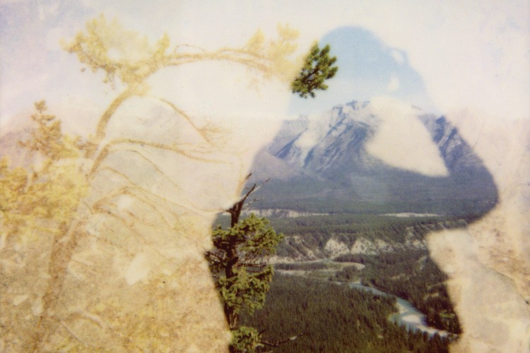 Double exposure Polaroid photograph