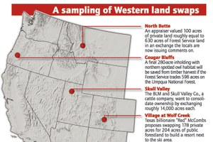 A sampling of Western land swaps