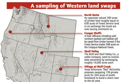A sampling of Western land swaps