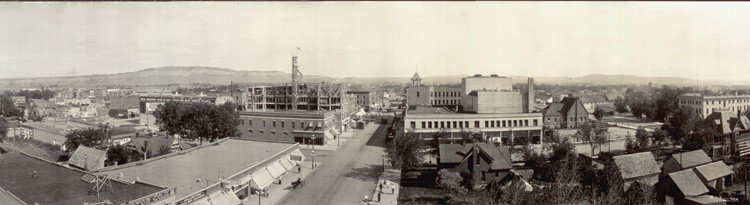 "Billings, Montana, c. 1915. When A.J. and Mary Ada Rehberg arrived a few years earlier, the population had already topped 10,000. ""Our best guess is they were looking for a little more security than the wild frontier life offered for their family,"" Denny Rehberg says in an email to HCN."