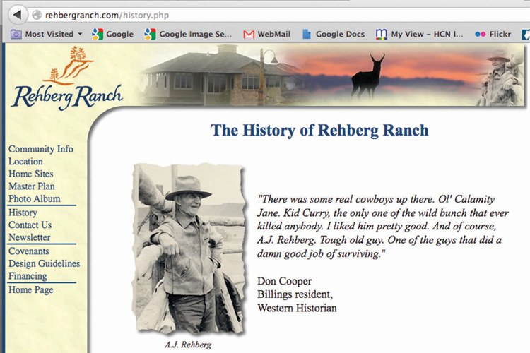 The Rehberg Ranch Estates website shows the family history starting with A.J.