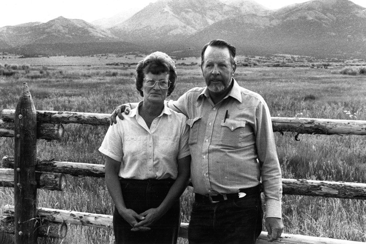 Wayne and Jean Hage on their Pine Creek Ranch