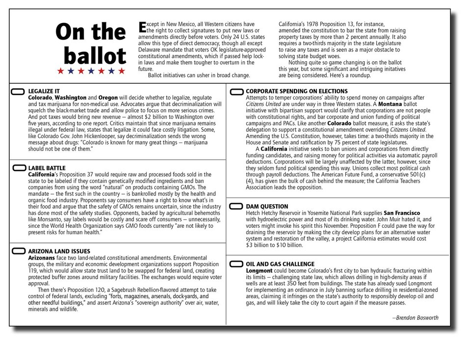 2012 Western ballot initiatives